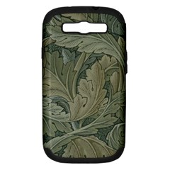 Vintage Background Green Leaves Samsung Galaxy S Iii Hardshell Case (pc+silicone)