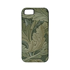 Vintage Background Green Leaves Apple Iphone 5 Classic Hardshell Case (pc+silicone)