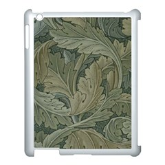 Vintage Background Green Leaves Apple Ipad 3/4 Case (white)