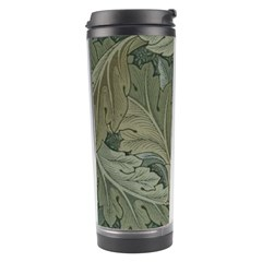 Vintage Background Green Leaves Travel Tumbler