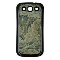 Vintage Background Green Leaves Samsung Galaxy S3 Back Case (black)