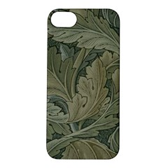 Vintage Background Green Leaves Apple Iphone 5s/ Se Hardshell Case