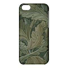 Vintage Background Green Leaves Apple Iphone 5c Hardshell Case