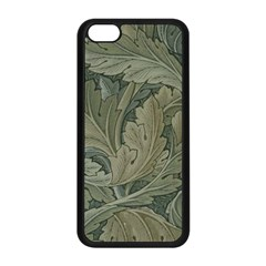 Vintage Background Green Leaves Apple Iphone 5c Seamless Case (black)