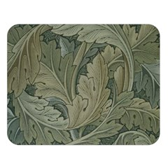Vintage Background Green Leaves Double Sided Flano Blanket (large)  by Nexatart