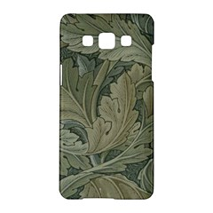 Vintage Background Green Leaves Samsung Galaxy A5 Hardshell Case
