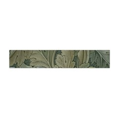 Vintage Background Green Leaves Flano Scarf (mini)