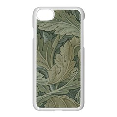 Vintage Background Green Leaves Apple Iphone 7 Seamless Case (white) by Nexatart