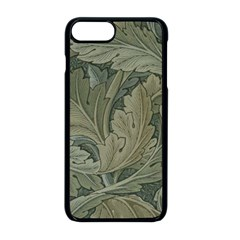 Vintage Background Green Leaves Apple Iphone 8 Plus Seamless Case (black)