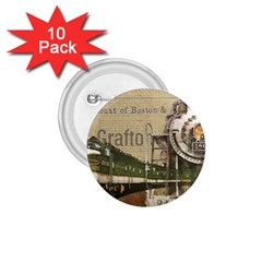 Train Vintage Tracks Travel Old 1 75  Buttons (10 Pack)