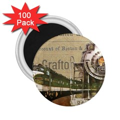 Train Vintage Tracks Travel Old 2 25  Magnets (100 Pack)