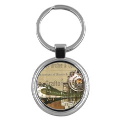 Train Vintage Tracks Travel Old Key Chains (round)