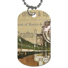 Train Vintage Tracks Travel Old Dog Tag (one Side)