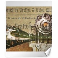Train Vintage Tracks Travel Old Canvas 16  X 20