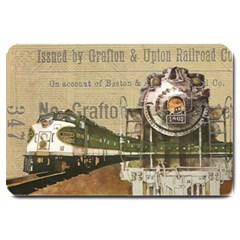 Train Vintage Tracks Travel Old Large Doormat