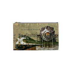 Train Vintage Tracks Travel Old Cosmetic Bag (small)