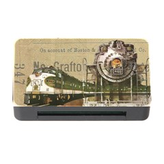 Train Vintage Tracks Travel Old Memory Card Reader With Cf by Nexatart