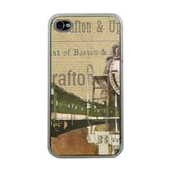 Train Vintage Tracks Travel Old Apple Iphone 4 Case (clear)