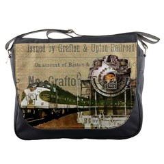 Train Vintage Tracks Travel Old Messenger Bags