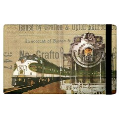 Train Vintage Tracks Travel Old Apple Ipad 2 Flip Case