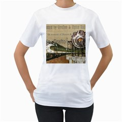 Train Vintage Tracks Travel Old Women s T Shirt (white)