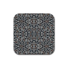 Ornate Pattern Mosaic Rubber Coaster (square)  by dflcprints