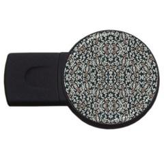 Ornate Pattern Mosaic Usb Flash Drive Round (2 Gb) by dflcprints