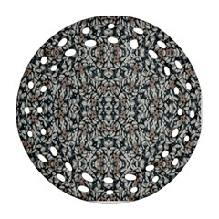 Ornate Pattern Mosaic Round Filigree Ornament (two Sides) by dflcprints