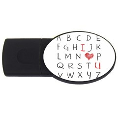 Love Alphabet Usb Flash Drive Oval (2 Gb) by Valentinaart