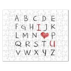 Love Alphabet Rectangular Jigsaw Puzzl by Valentinaart