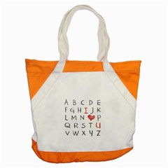 Love Alphabet Accent Tote Bag by Valentinaart
