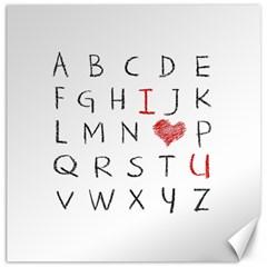 Love Alphabet Canvas 20  X 20   by Valentinaart