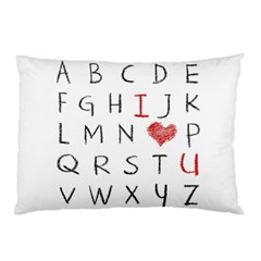 Love Alphabet Pillow Case by Valentinaart