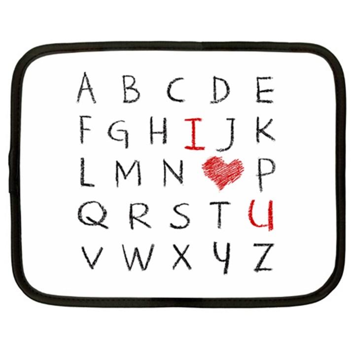 Love Alphabet Netbook Case (XL)