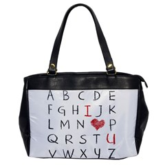 Love Alphabet Office Handbags by Valentinaart