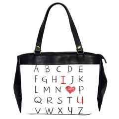 Love Alphabet Office Handbags (2 Sides)  by Valentinaart