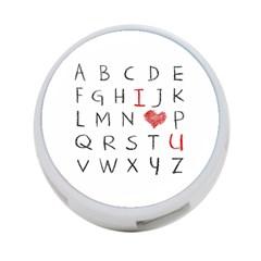 Love Alphabet 4 Port Usb Hub (one Side) by Valentinaart