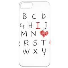 Love Alphabet Apple Iphone 5 Classic Hardshell Case by Valentinaart
