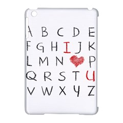Love Alphabet Apple Ipad Mini Hardshell Case (compatible With Smart Cover) by Valentinaart