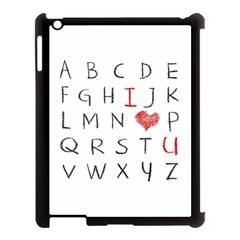 Love Alphabet Apple Ipad 3/4 Case (black) by Valentinaart