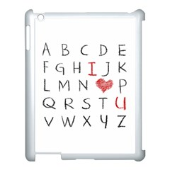 Love Alphabet Apple Ipad 3/4 Case (white) by Valentinaart