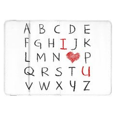 Love Alphabet Samsung Galaxy Tab 8 9  P7300 Flip Case by Valentinaart