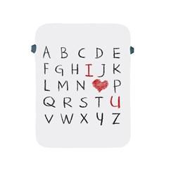 Love Alphabet Apple Ipad 2/3/4 Protective Soft Cases by Valentinaart