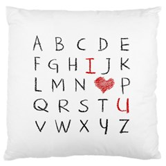 Love Alphabet Large Flano Cushion Case (two Sides) by Valentinaart