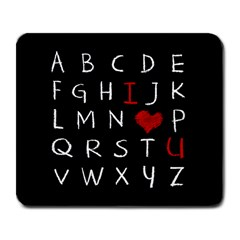 Love Alphabet Large Mousepads by Valentinaart