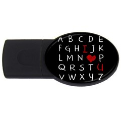 Love Alphabet Usb Flash Drive Oval (4 Gb) by Valentinaart