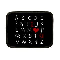 Love Alphabet Netbook Case (small)  by Valentinaart