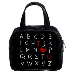 Love Alphabet Classic Handbags (2 Sides) by Valentinaart