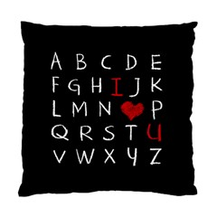 Love Alphabet Standard Cushion Case (two Sides) by Valentinaart