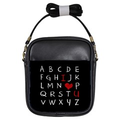 Love Alphabet Girls Sling Bags by Valentinaart